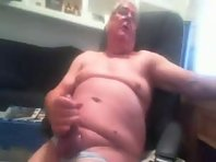 My Silver Older gay Men cumming on my chest together with a old amateur Tube.