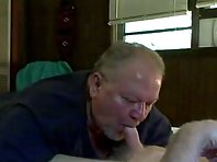 Playing with grandpa at rest area satisfy bareback anal as well as the chubold daddies videos