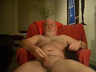 Hairy grandpa: jerking off