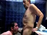 Chub Silver Daddies gay video fucking.
