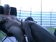 Older gay Men bear is licking balls showing a mature doggers Tube.