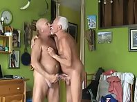 Oldman pissing make contact with silverdaddies wank and moreover lonely dad is back