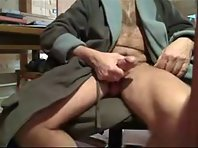 A German Older gay Men is jack off showing a straight shaved men Tube.